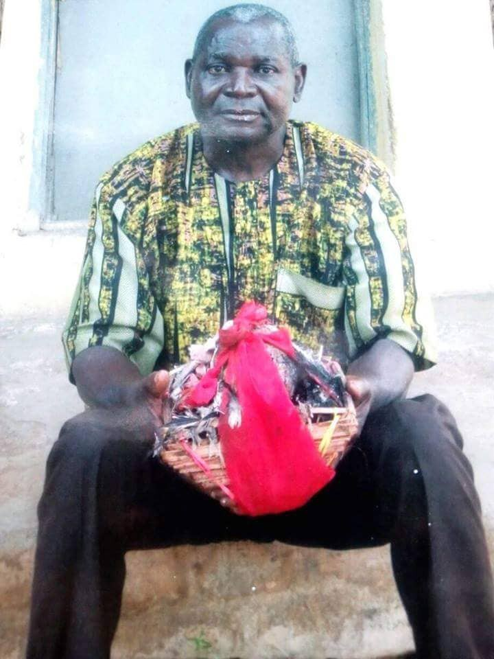 Elderly man allegedly caught deposting charms on a young man