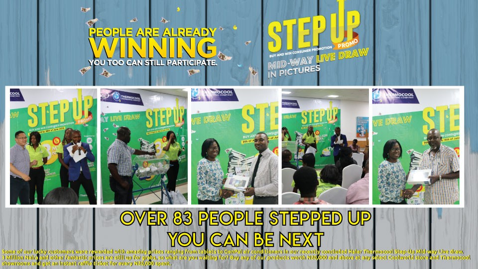 Winners emerge in the on-going Haier Thermocool step up promo with =N=3 Million & loads of Haier Thermocool energy saving appliances still up for grabs