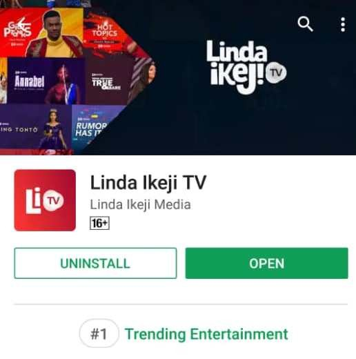 Linda Ikeji TV is the number one entertainment app on playstore at the moment! Yay!