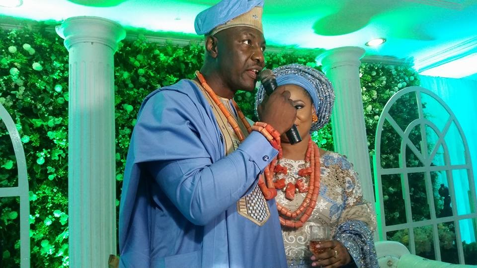 Photos from the traditional wedding of ex-military leader, Yakubu Gowon