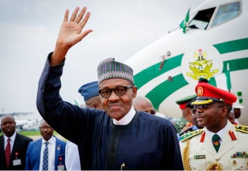 Photo:?President Buhari?is back in Abuja?after his 2-Day official visit to Morocco