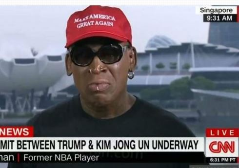 Dennis Rodman weeps during CNN interview over President Trump and Kim Jong Un