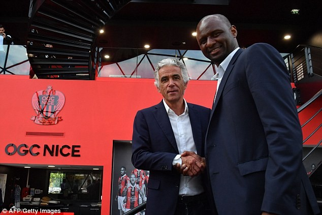 Arsenal legend Patrick Vieira becomes new coach of French side Nice ?