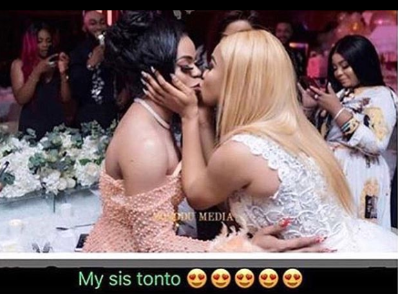 Tonto Dikeh and Bobrisky lock lips at Tonto