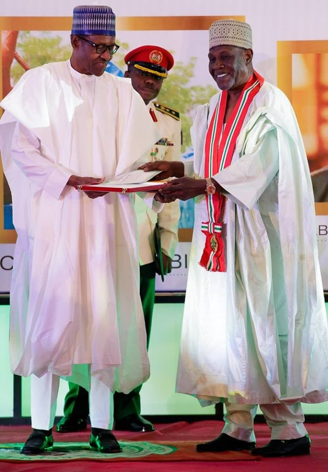 Photos from the June 12th investiture/conferment of national awards on MKO Abiola, Gani Fawehinmi , Babagana Kingibe