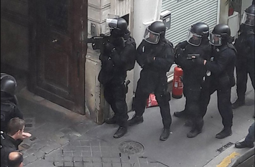 "Paris street on lockdown after ""armed man takes two hostages, including pregnant woman"""