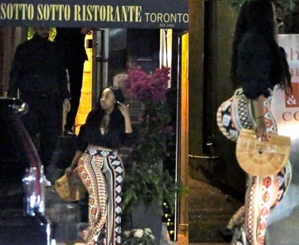 Drake spotted with a curvy lady on a date and her body is..erm... see for yourself (Photos)