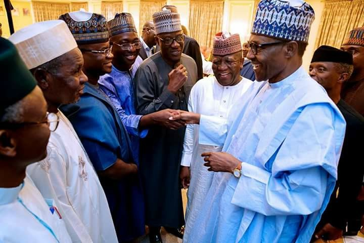 President Buhari in closed door meeting with APC governors(photos)