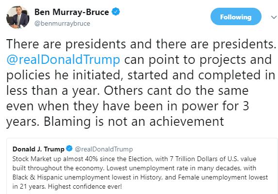 Ben Bruce trolls President Buhari on twitter