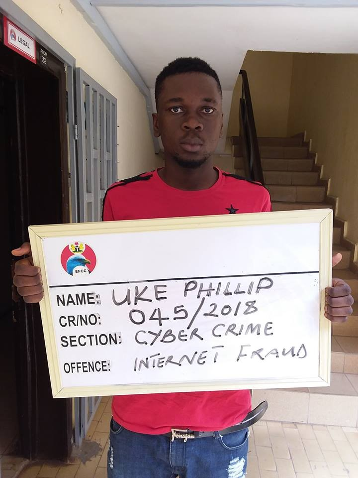 Photos: Yahoo Yahoo boy jailed over N150K fraud