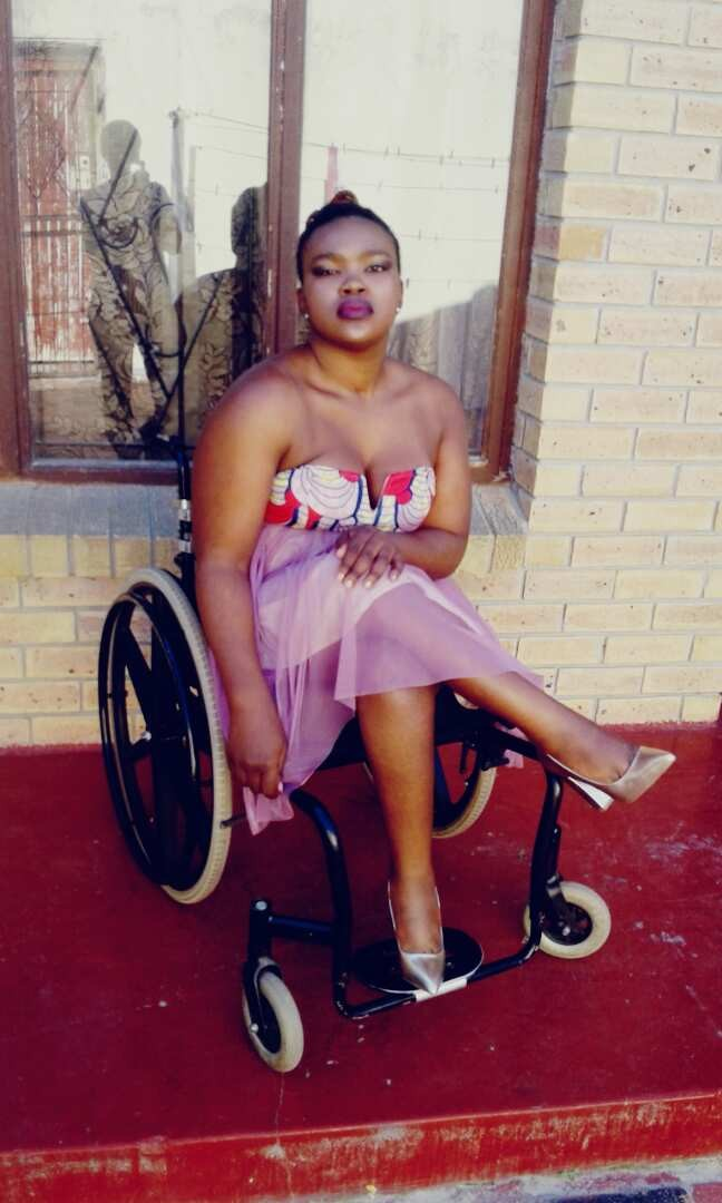 Physically challenged lady shares inspiring post on twitter