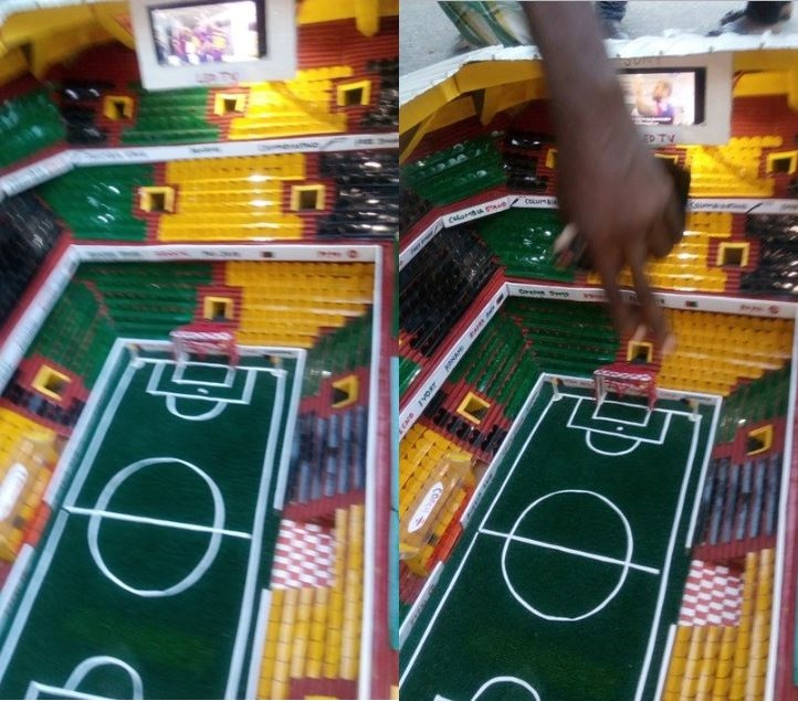 See photos of fully equipped stadium prototype constructed by a 14-Year-old boy in Aba