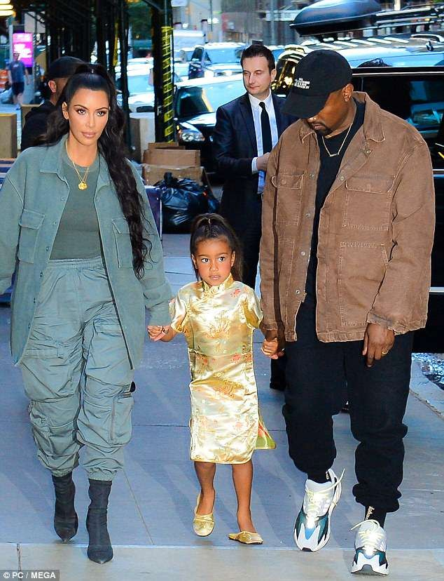 Kanye West and Kim Kardashian step out in style as they