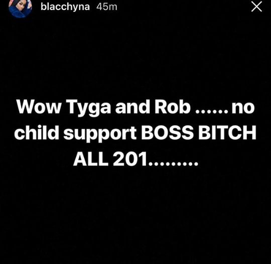Blac Chyna claims none of her baby daddies is paying her child support