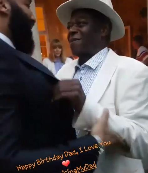 Aww... Ghanaian PR Guru, Matthew Mensah flies to Denmark to give his dad a surprise birthday/father