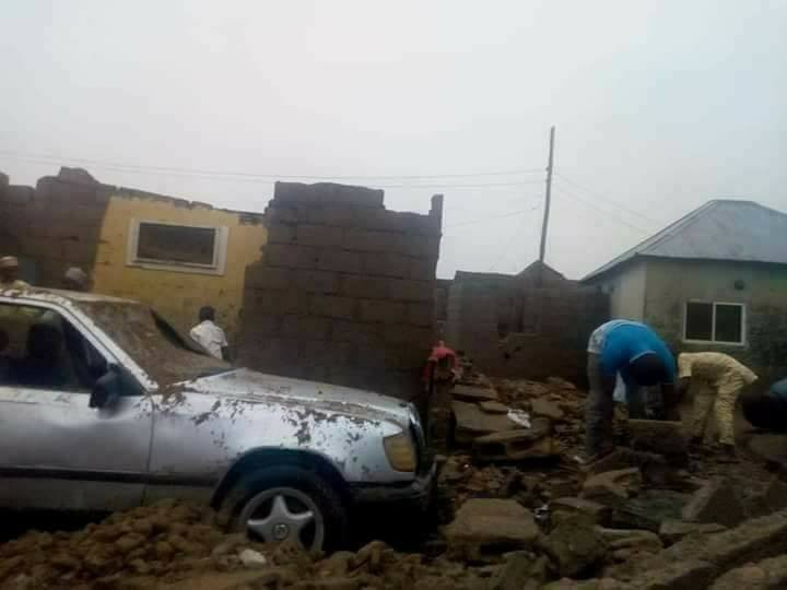 Sand storm and heavy rainfall wrecks havoc in Bauchi (photos)