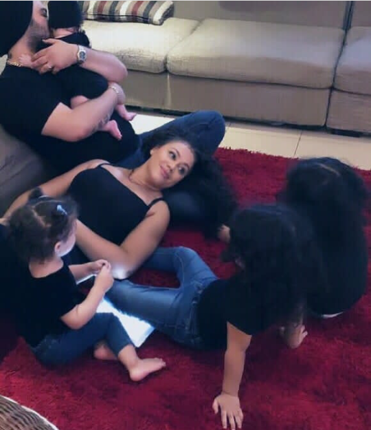 Rare photo of Nadia Buari, her husband, and their 4 kids