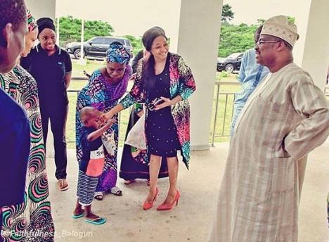 Awww....5 year old Taju has been introduced to Oyo state governor, Abiola Ajimobi (photos)