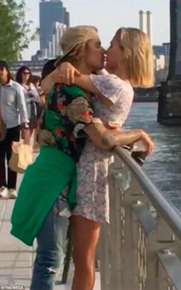 Justin Bieber packs on PDA with ex-girlfriend Hailey Baldwin in NYC as they appear to confirm they are back together (Photos)