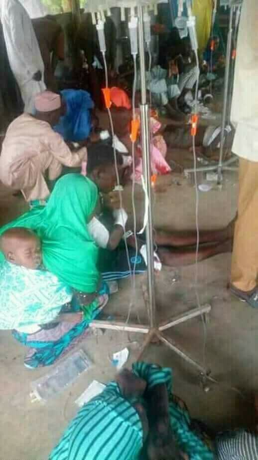 Photos: See how Damboa bomb blast victims are being treated at the state hospital