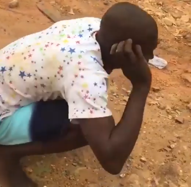 Video: See what they did to a generator thief in Lagos...lol