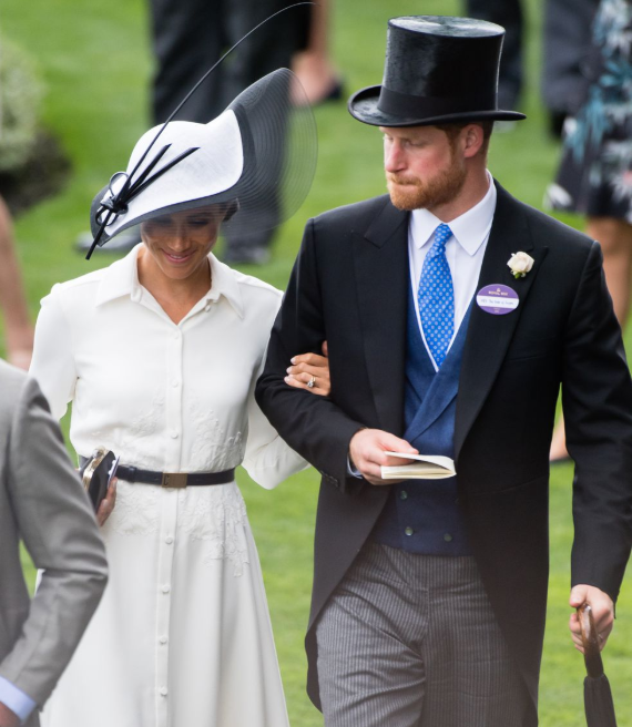 Meghan Markle and Prince Harry attend Royal Ascot with the Queen