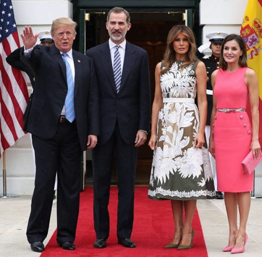 King Felipe and Queen Letizia of Spain visit the White House while on official visit to the United States