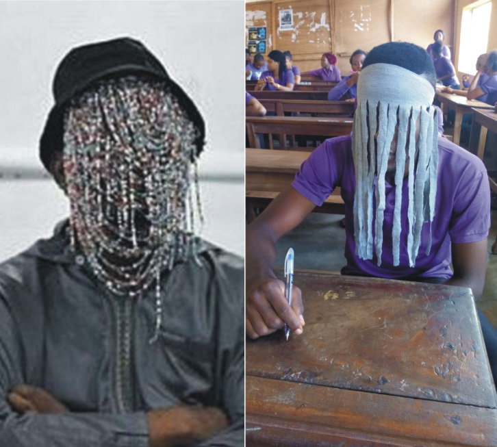 Anambra student who showed up for exams dressed as Anas Aremeyaw, Ghanaian masked journalist, chased out of class (photos)