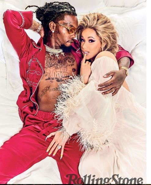 Pregnant Cardi B grabs Offset?s junk as he stares down her cleavage in another sexy shoot for Rolling Stone magazine