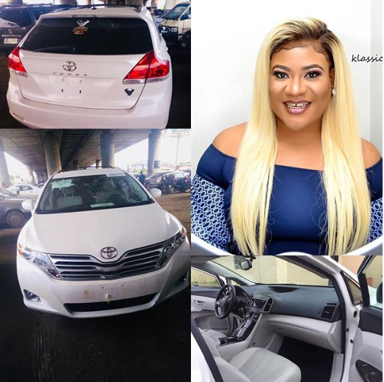 """""""Hardwork pays"""" Nkechi Blessing Sunday buys new car days after she and Juliet Ibrahim dragged each other mercilessly on social media"""