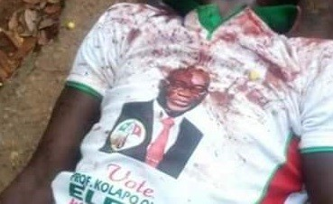 PDP supporter allegedly killed by suspected political thugs in Ekiti State (graphic photos)