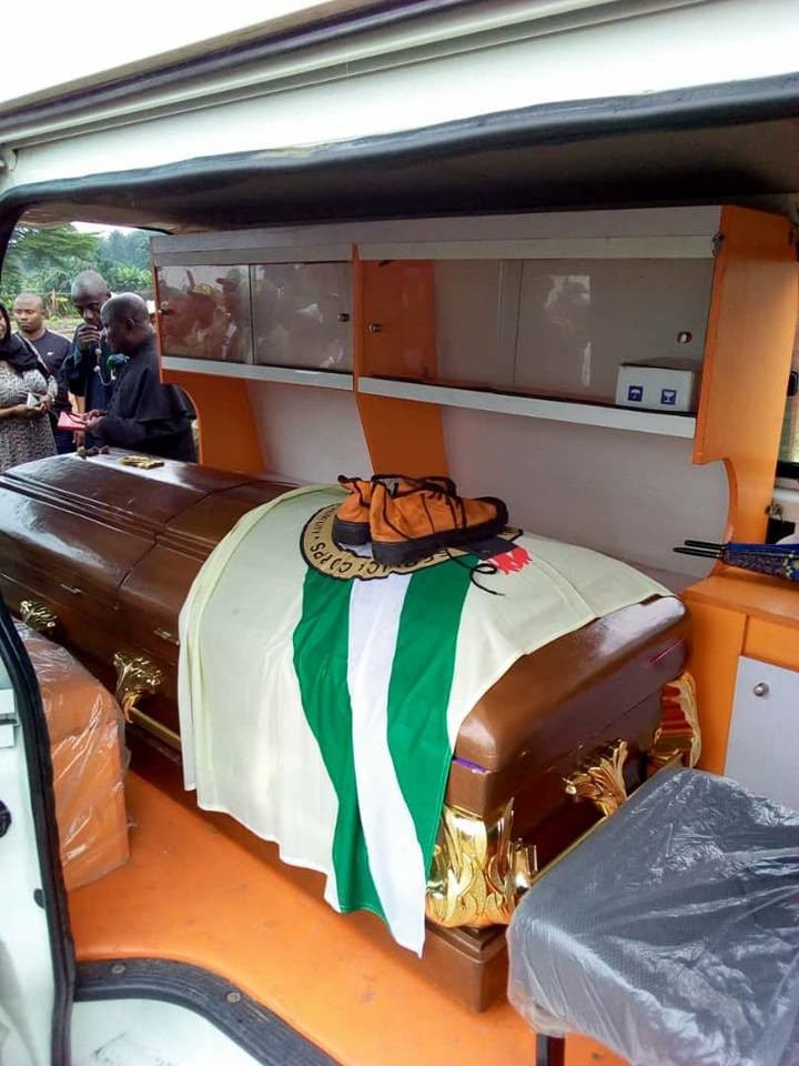 NYSC member who drowned in Rivers state buried today amidst tears (photos)