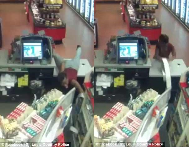 Thief shows off spectacular dance moves while stealing from a store (Video)
