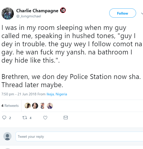 Friends share shocking story of how a gay hairstylist almost raped their friend last night in Lagos