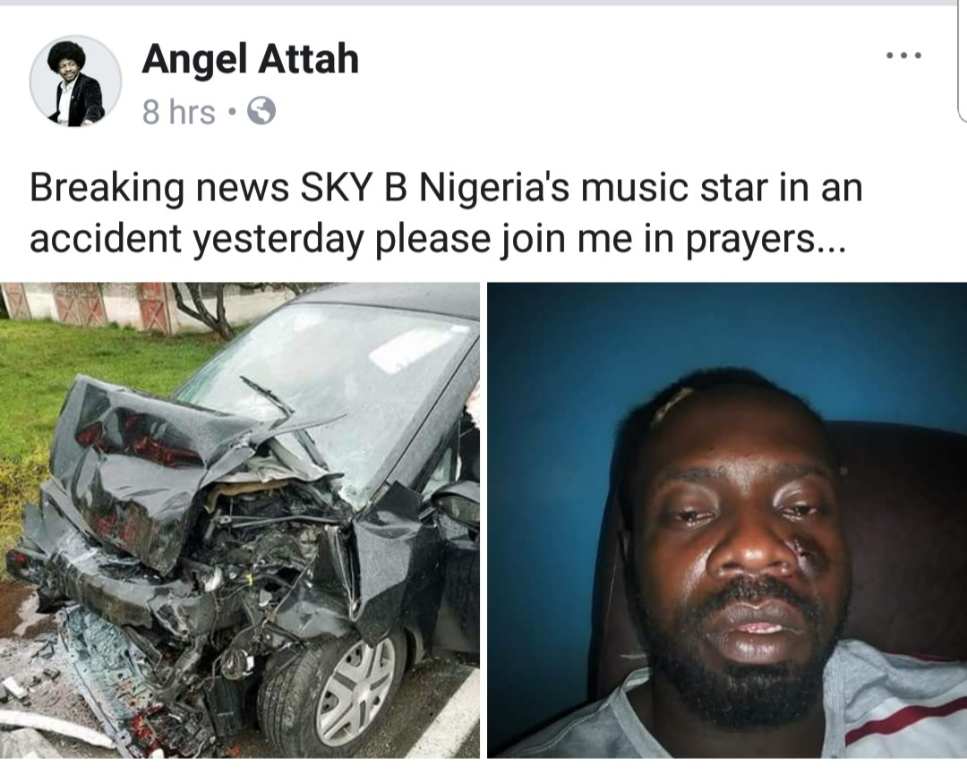 Nigerian musician Sky B survives ghastly motor accident in Port Harcout