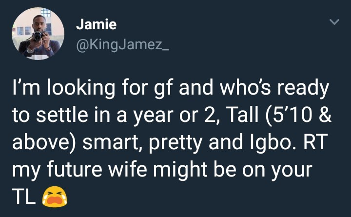 This handsome Nigerian man is in search of a girlfriend who is willing to