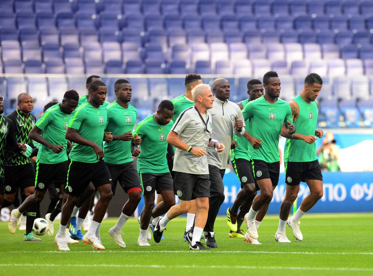 Photos: Super Eagles pictured in Training ahead of crunch clash with Argentina?