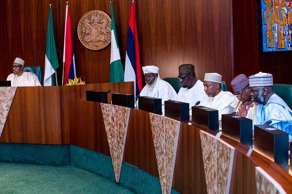 Photos: President Buhari receives members of the Supreme Council of Sharia in Nigeria