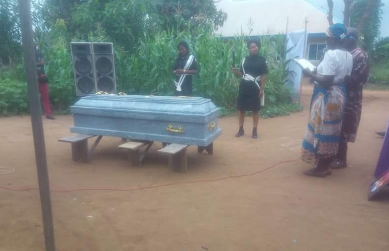 Photos from the burial of mother and her two daughters who died in fire incident at Onitsha