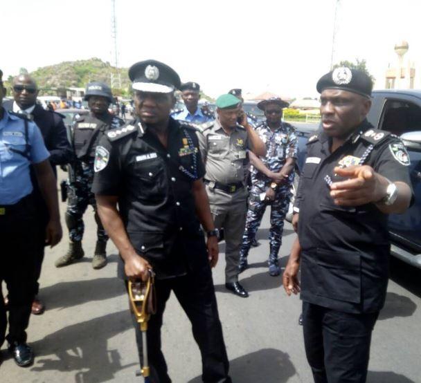 Plateau crisis: Minister of Interior?Abdulrahman Danbazau and Police IG,?Ibrahim Idris arrive Jos for an on the spot assessment