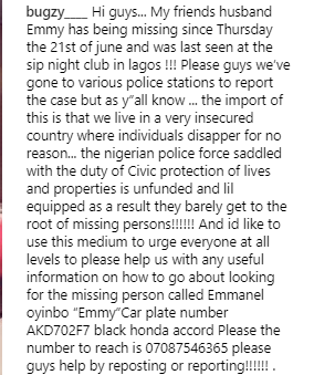 Man goes missing after visiting Sip night club in Lagos and his family needs help to locate him