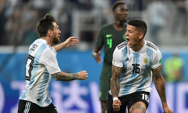 Nigeria crashes out of the World Cup following a 2-1 defeat to Argentina