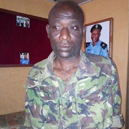 32-year old fake soldier arrested in Ogun State (Photo)