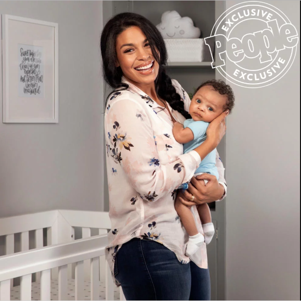 Adorable new photos of Jordin Sparks, her husband and their newborn son as they discuss welcoming their first child together