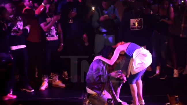 What? Rapper 03 Greedo proposes to his longtime girlfriend at a concert before heading to prison for the next 20 years