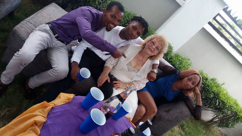 Young Nigerian man marries his much older white lover in Enugu state but social media users notice something odd in the photos