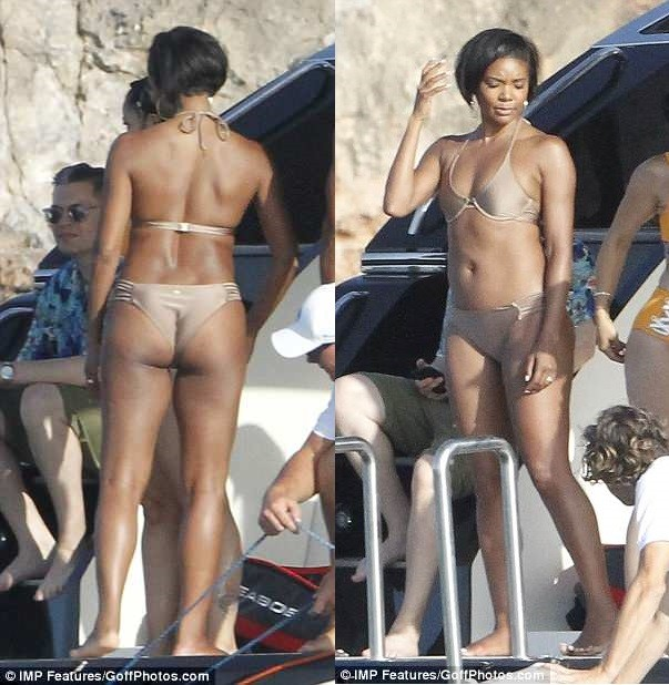 Gabrielle Union Flaunts Her Enviable Body In Nude Bikini As She Goes On A Boat Trip