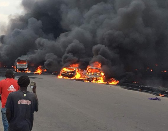 Tanker explosion update: At least 50 cars confirmed to have been burnt, 9 bodies recovered, commuters dead (video)