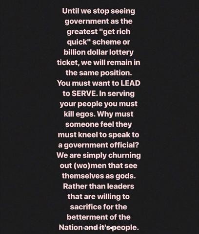 Kemi Adetiba has a message for those saying prayers won