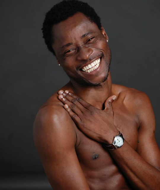 """""""It was through dressing up as a woman that I learnt how to be a man""""- Bisi Alimi says."""